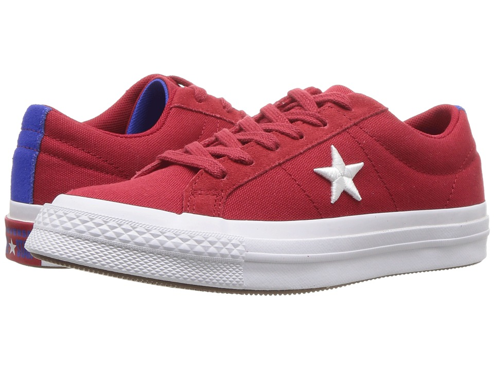 Converse Kids One Star Ox (Big Kid) (Gym Red/White/Hyper Royal) Boys Shoes