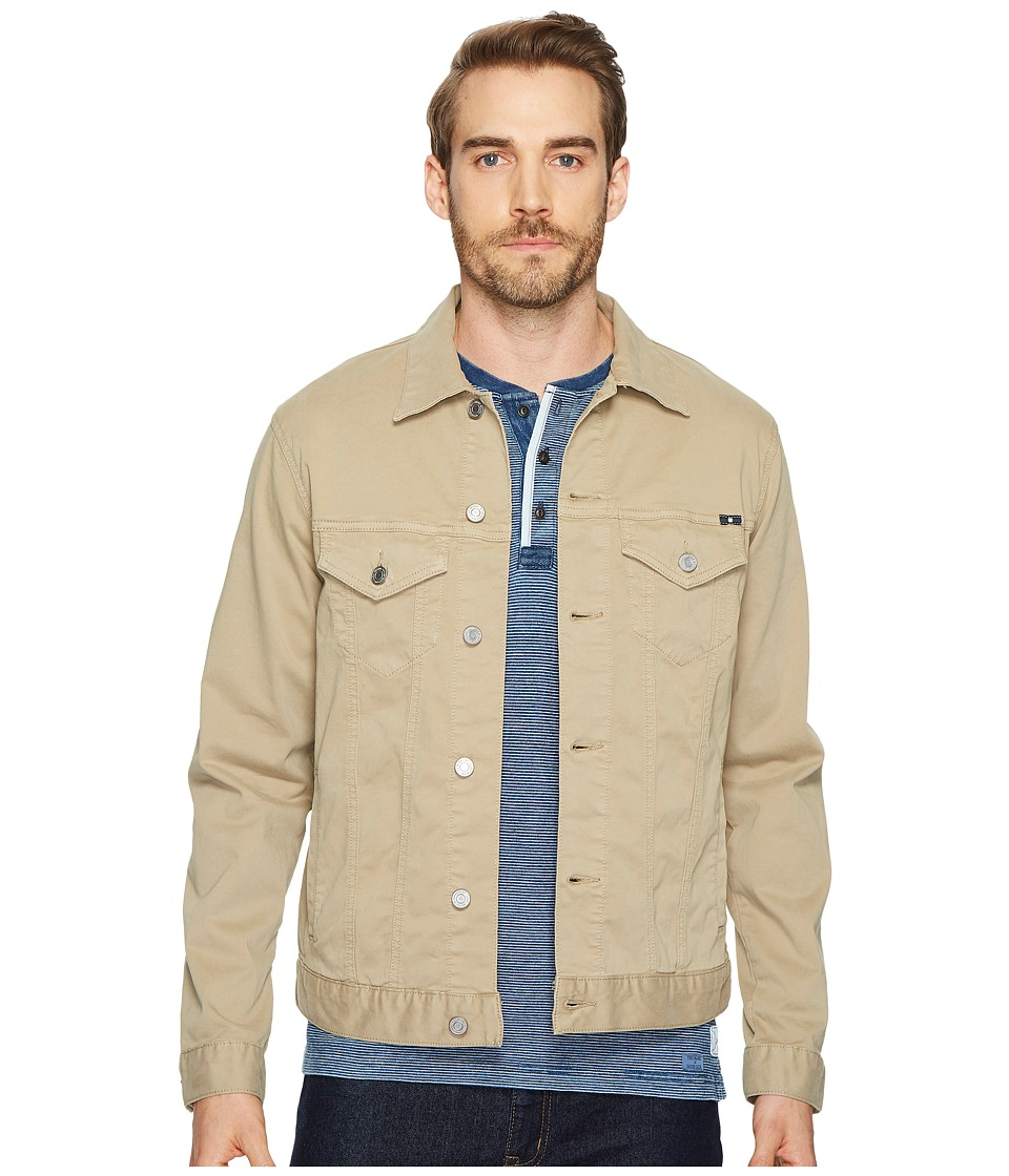 Men's Vintage Style Coats and Jackets Lucky Brand - Lakewood Denim Jacket Sandstone Sateen Mens Coat $99.00 AT vintagedancer.com
