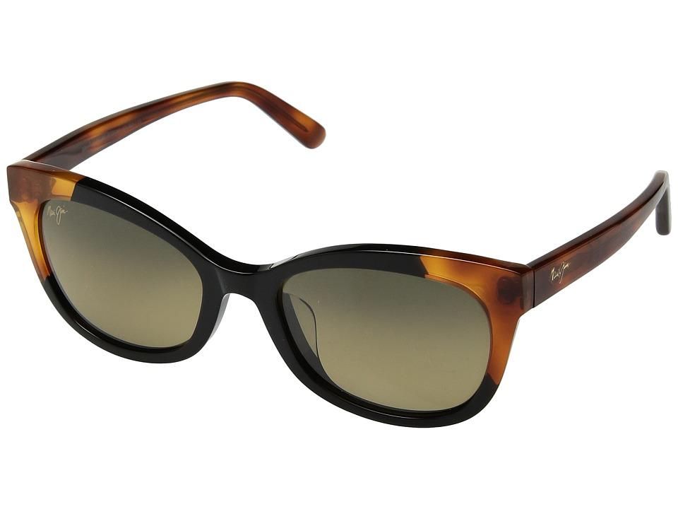 Maui Jim - Ilima (Black Gloss Bourbon Tortoise/HCL Bronze) Athletic Performance Sport Sunglasses