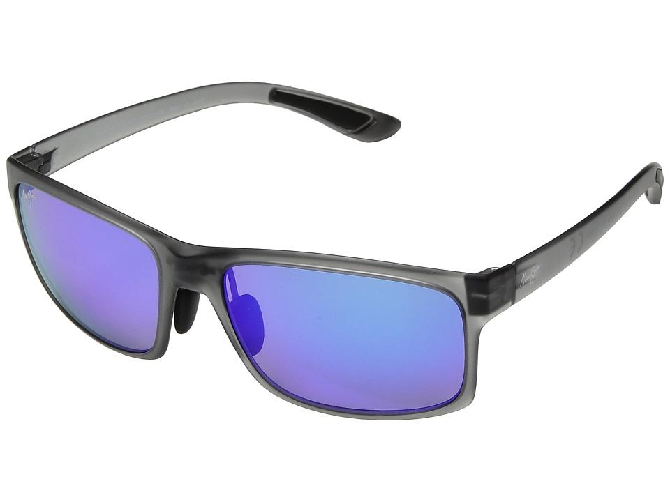Maui Jim - Pokowai Arch (Translucent Matte Grey/Blue Hawaii) Athletic Performance Sport Sunglasses