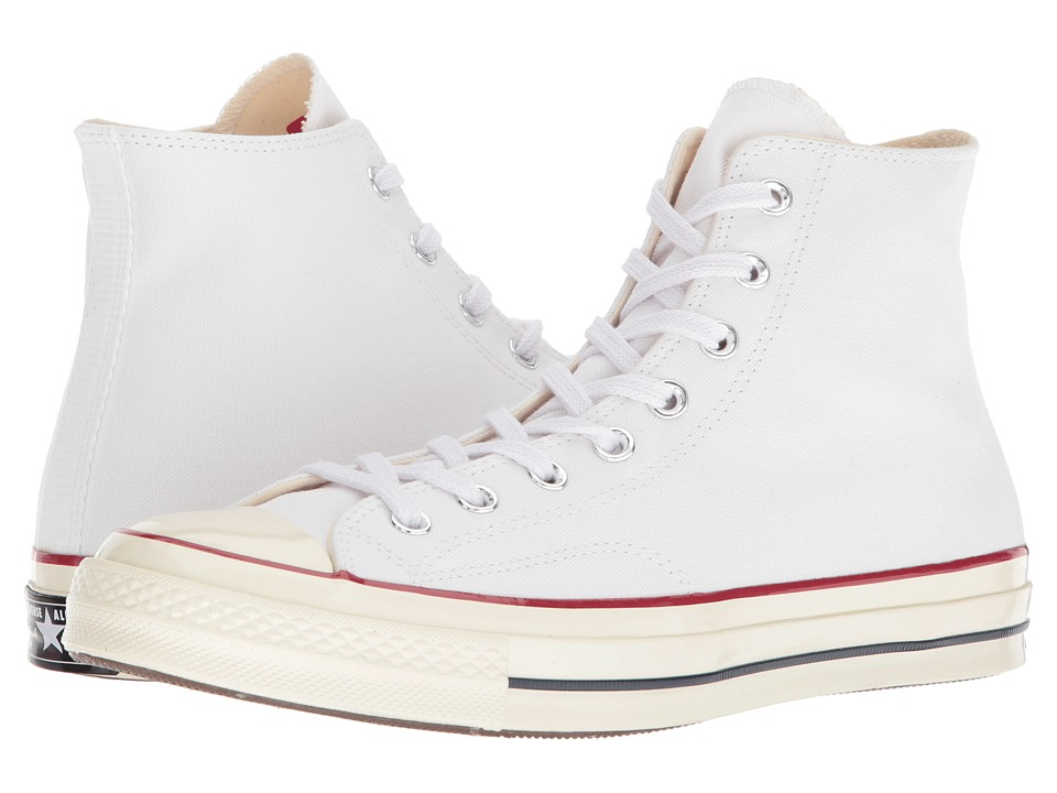 Converse - Chuck Taylor(r) All Star(r) 70 Hi (White/Garnet/Egret) Athletic Shoes