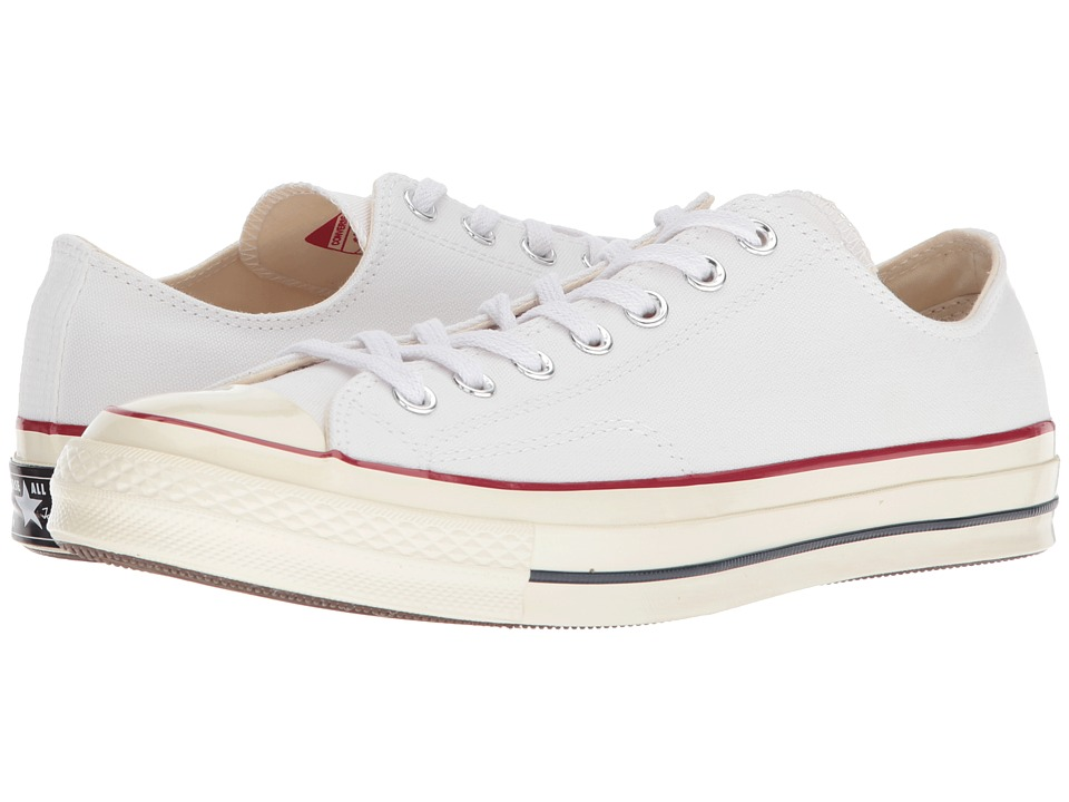 Converse - Chuck Taylor(r) All Star(r) 70 Ox (White/Garnet/Egret) Athletic Shoes