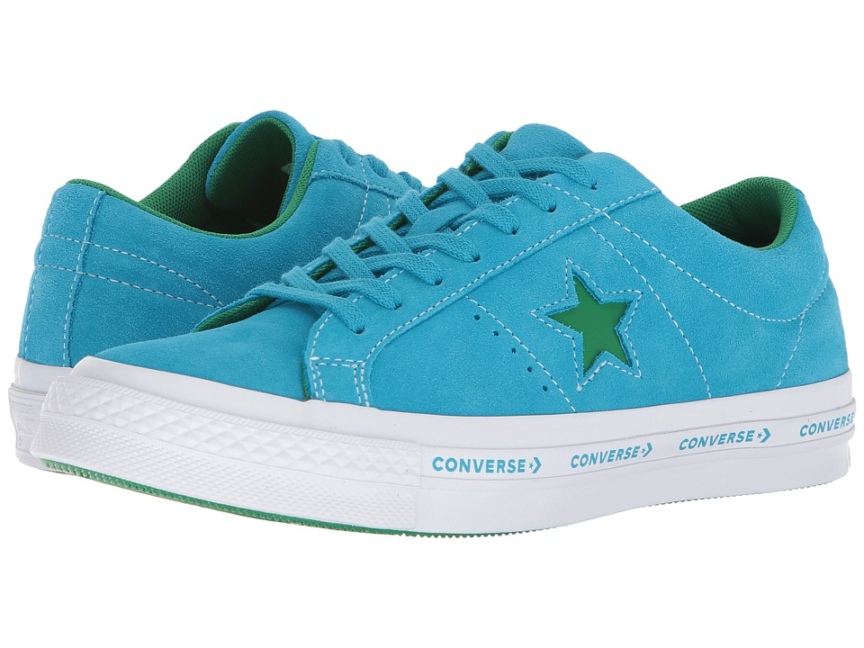 Converse One Star(r) Pinstripe Ox (Hawaiian Ocean/Jolly G...