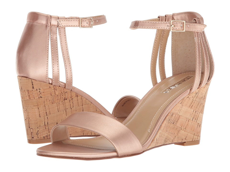 Tahari - Farce (Rose Gold Metallic) Womens Wedge Shoes