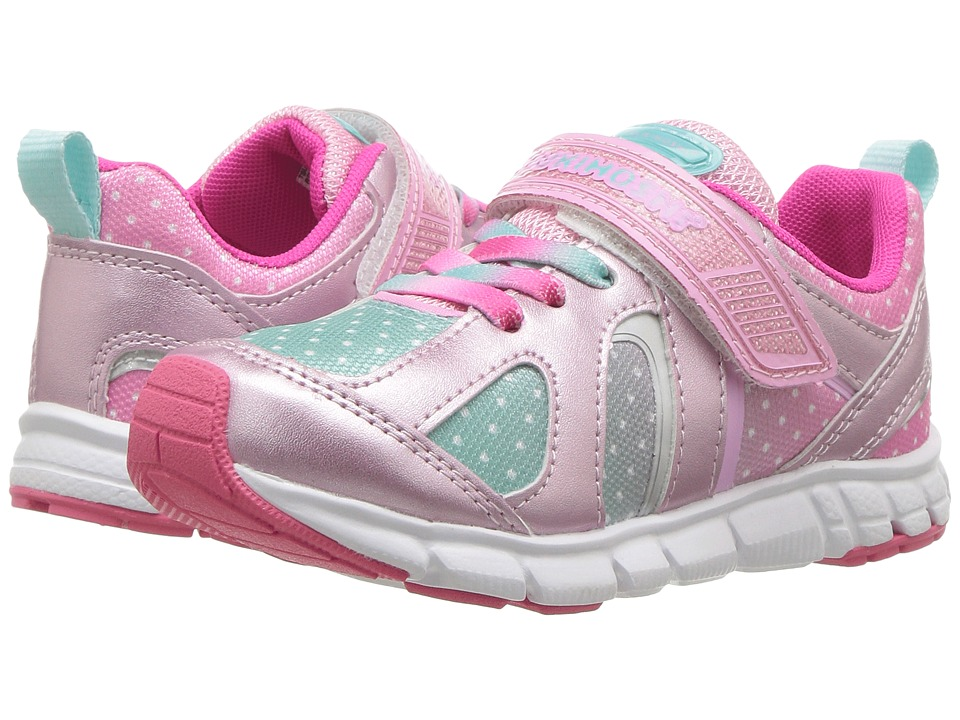 Tsukihoshi Kids Rainbow (Toddler/Little Kid) (Rose/Mint) Girls Shoes
