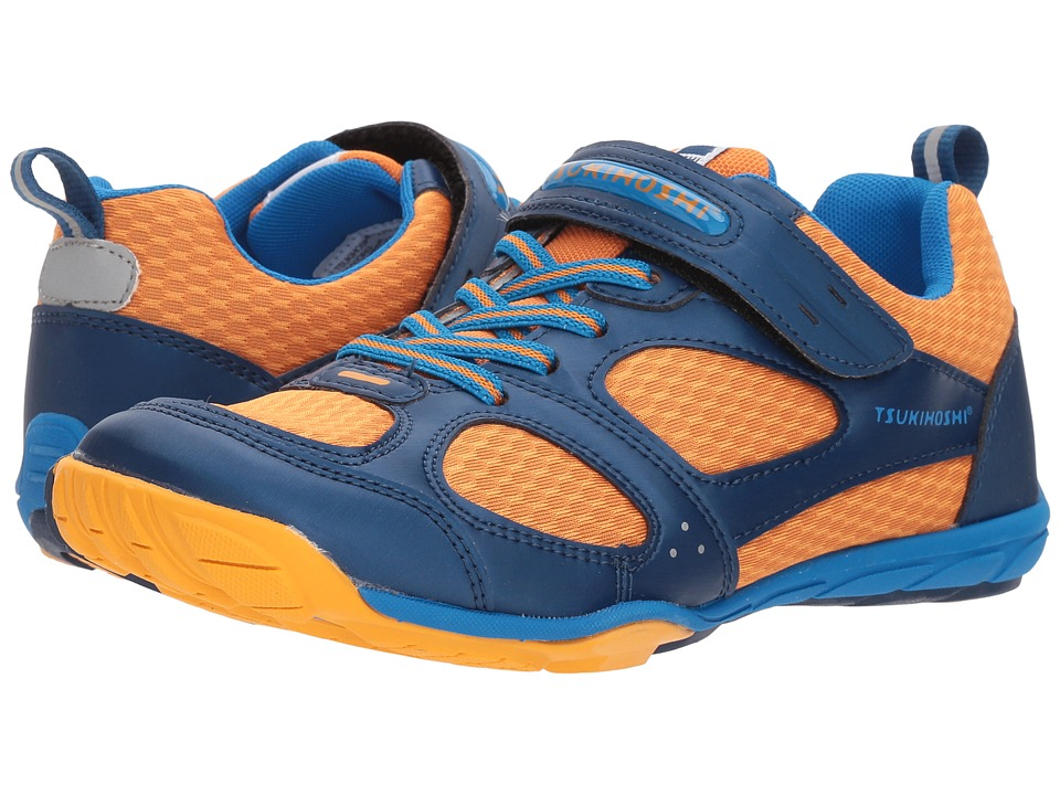 Tsukihoshi Kids - Mako HL 2 (Little Kid/Big Kid) (Navy/Orange) Boys Shoes