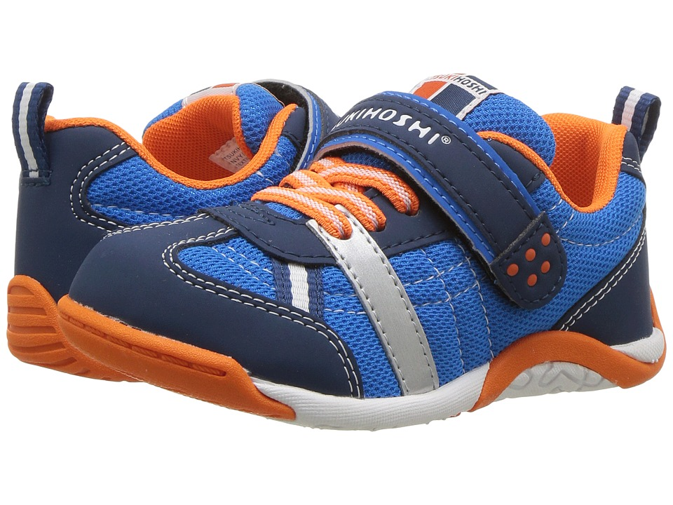 Tsukihoshi Kids - Kaz (Toddler/Little Kid) (Navy/Tangerine) Boys Shoes