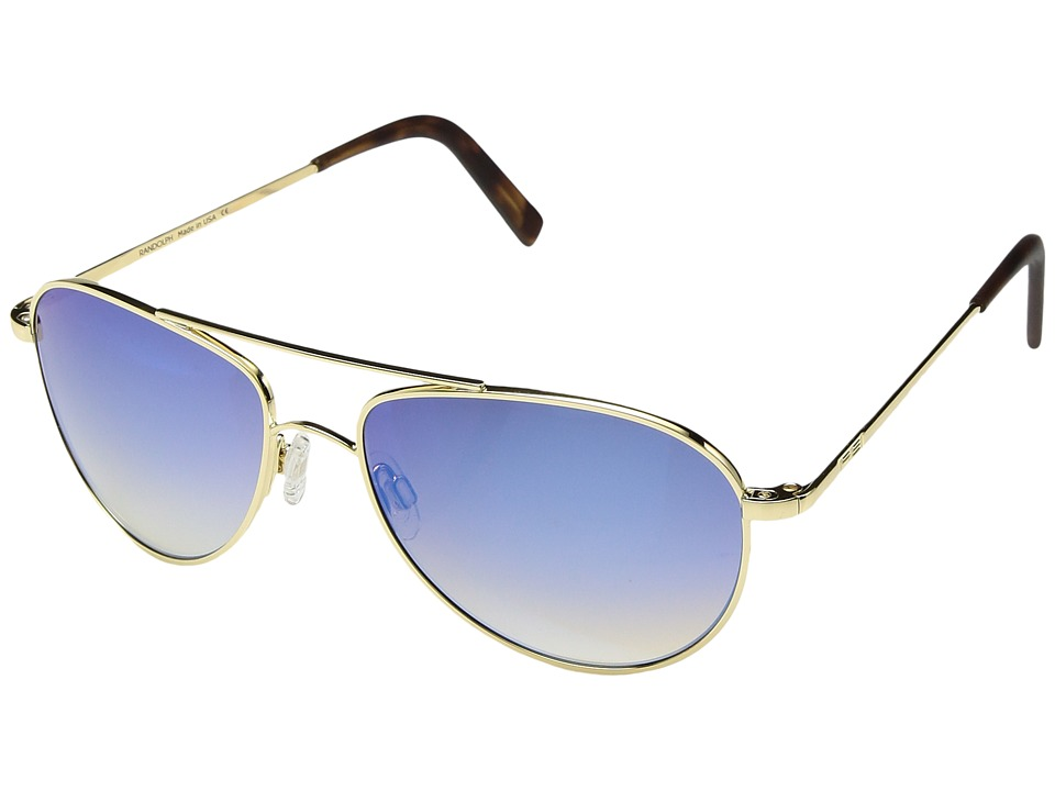 Randolph - Hawk 57mm (23K Gold/Oasis Metallic Nylon Anti-Reflective) Fashion Sunglasses
