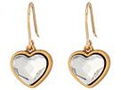 Alex and Ani Crystal Heart Hook Earrings