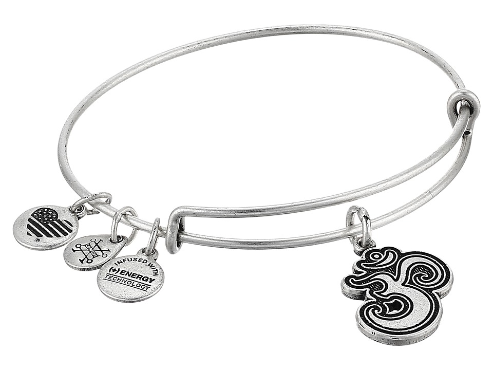 Alex and Ani - Om II Bangle (Rafaelian Silver) Bracelet