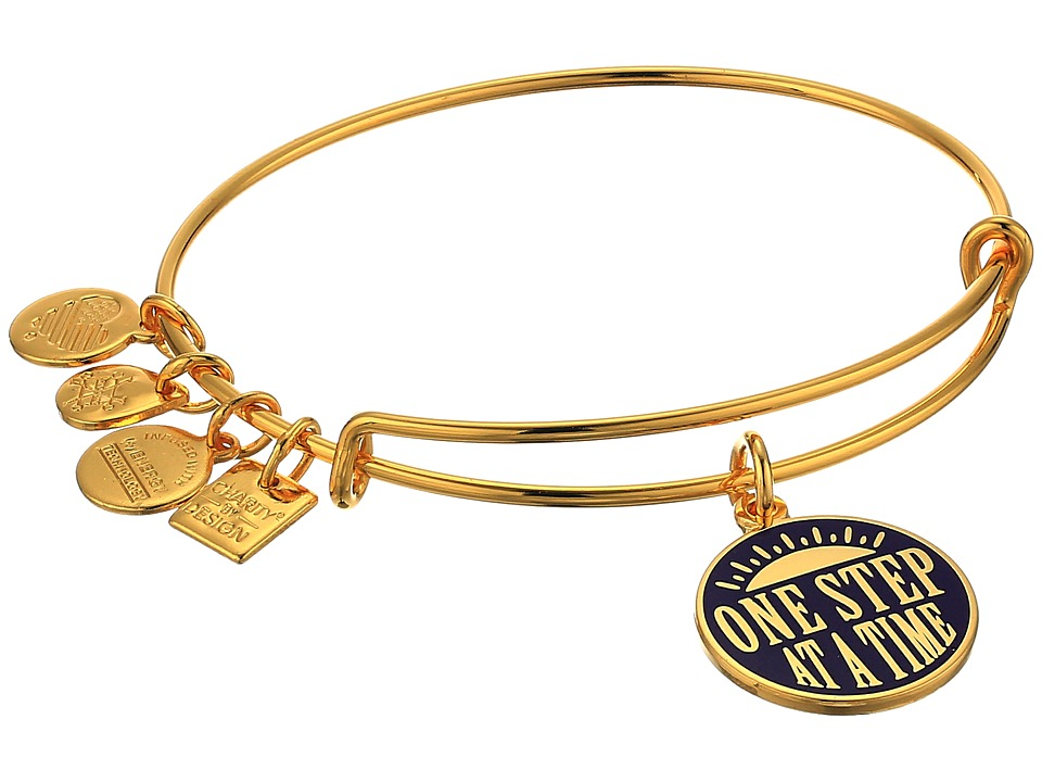 Alex and Ani - Charity By Design - One Step Bangle (Shiny Gold) Bracelet