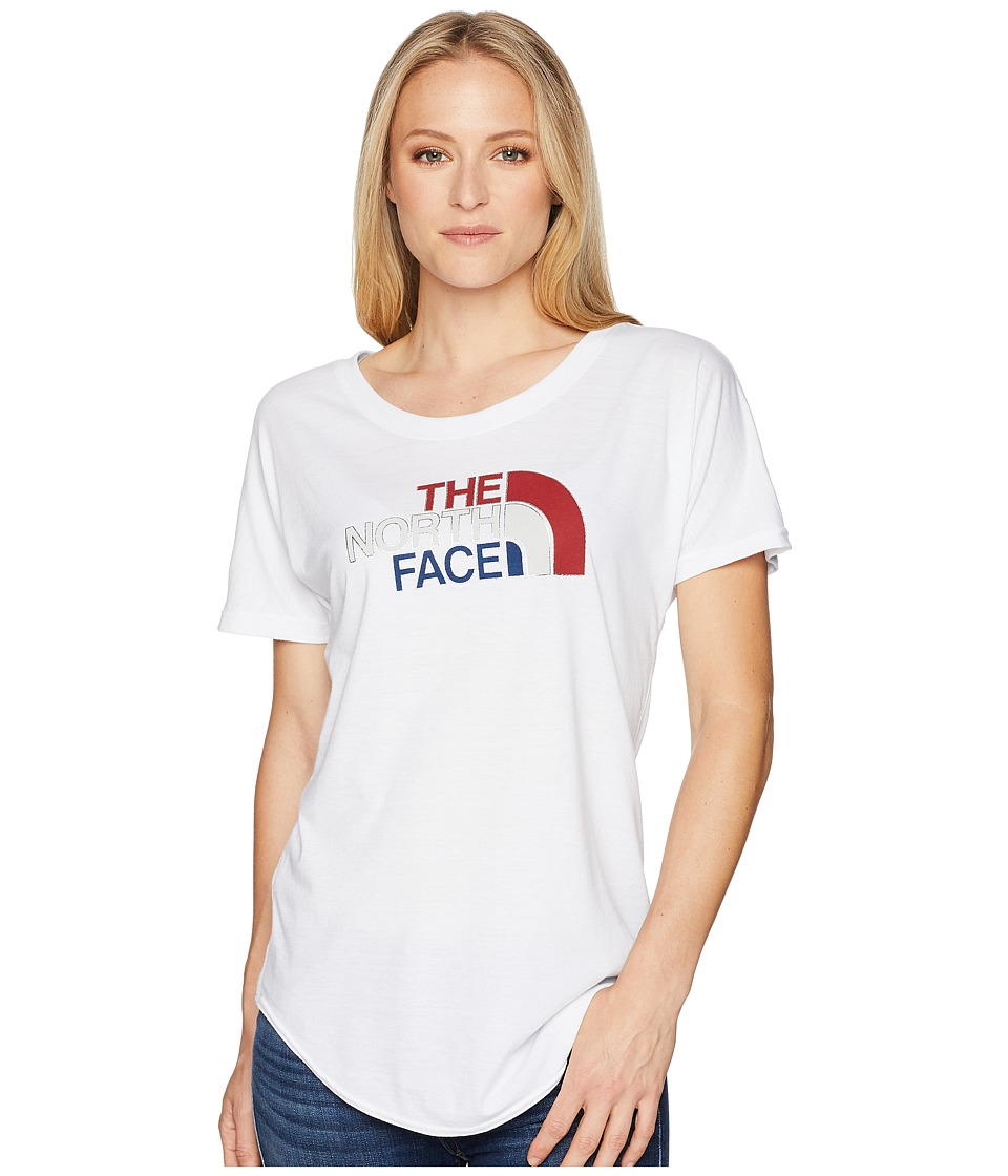 The North Face - Americana Track Tee (TNF White Heather) Womens T Shirt