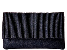 Jessica McClintock Priscilla Lurex Pleated Flap Clutch