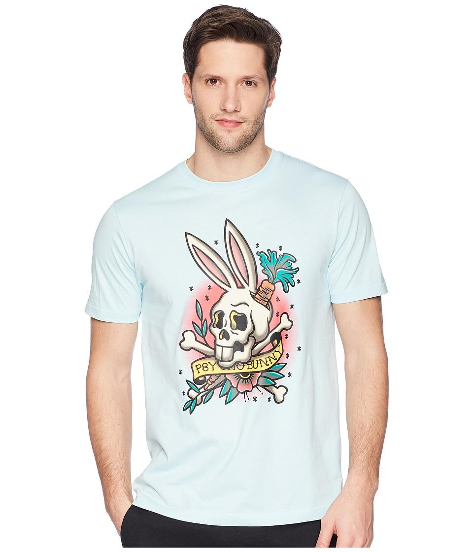 Psycho Bunny - Printed Tee Shirt (Cerulean) Mens T Shirt