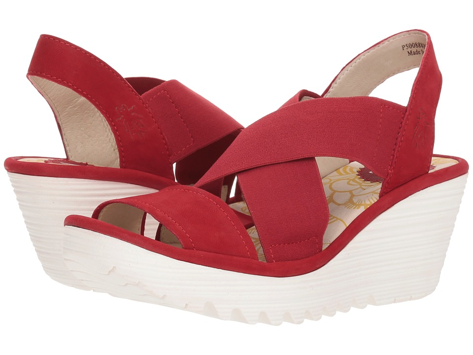 FLY LONDON YAJI888FLY (Lipstick Red Cupido) Women's Shoes