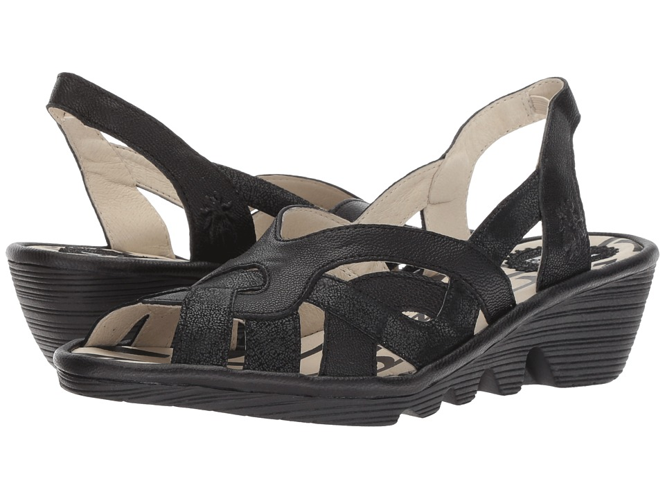 FLY LONDON PIMA887FLY (Black Cool/Mousse) Women's Shoes