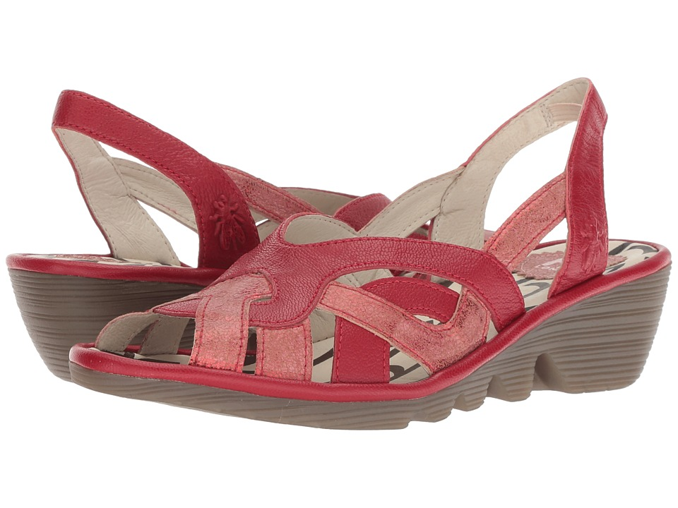 FLY LONDON PIMA887FLY (Red/Lipstick Red Cool/Mousse) Women's Shoes