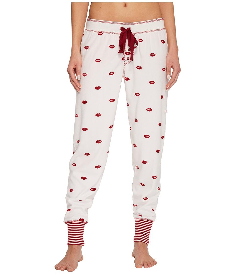 P.J. Salvage - Jammie Loved Lips Joggers (Natural) Womens Pajama