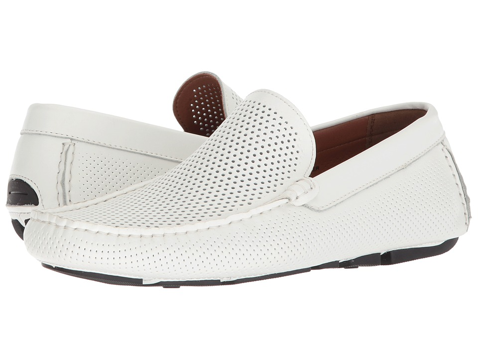 Kenneth Cole Reaction - Lyon Driver (White) Mens Slip on  Shoes