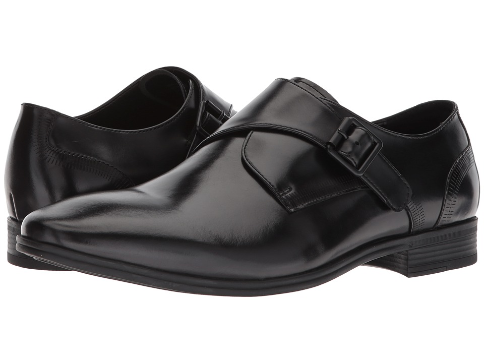 Kenneth Cole Reaction - Min Monk (Black) Mens Slip on  Shoes