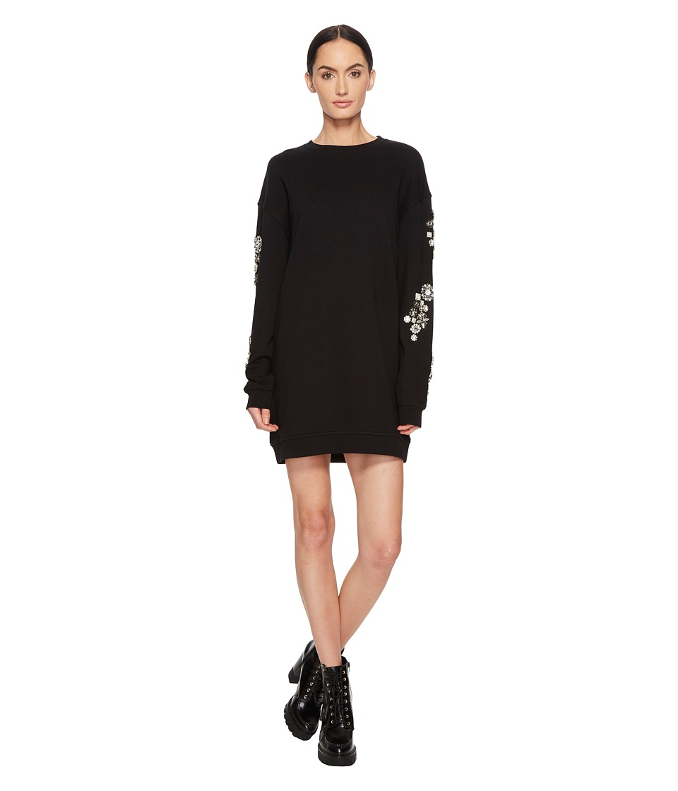 McQ - Diamante Slouch Dress (Darkest Black) Womens Dress