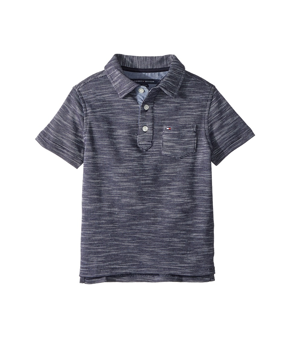 Tommy Hilfiger Kids - Seed Polo (Toddler/Little Kids) (Swim Navy) Boys Clothing