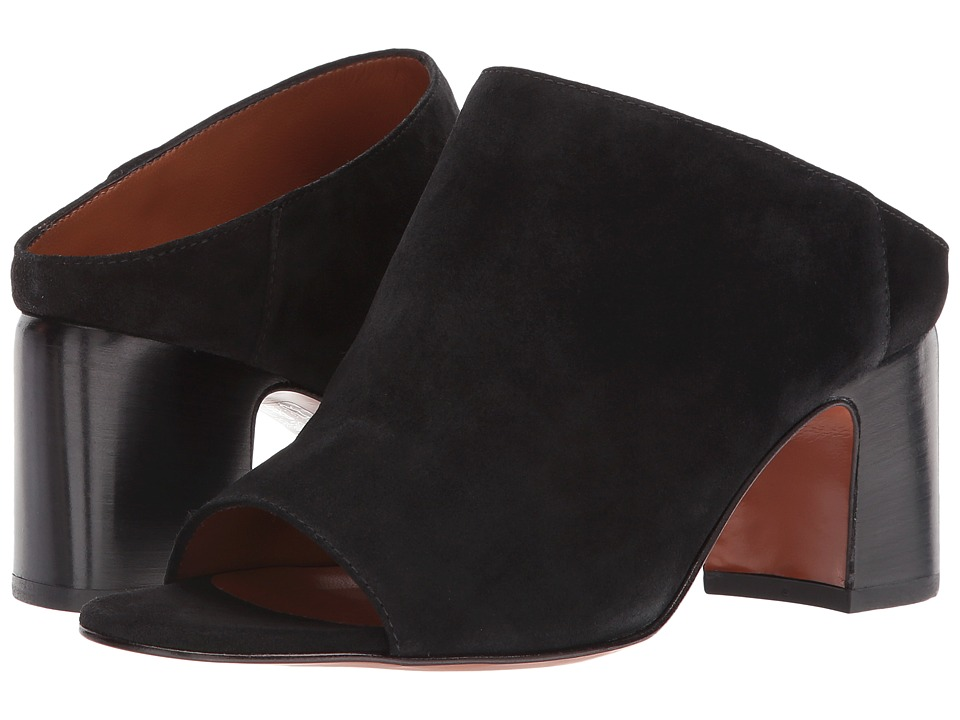Aquatalia Ellen (Black Suede) Slides