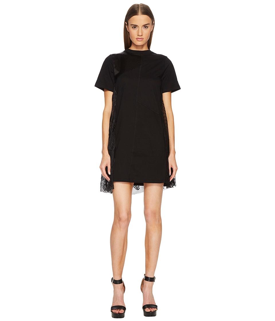 McQ - Cut Up T-Shirt Dress (Black) Womens Dress