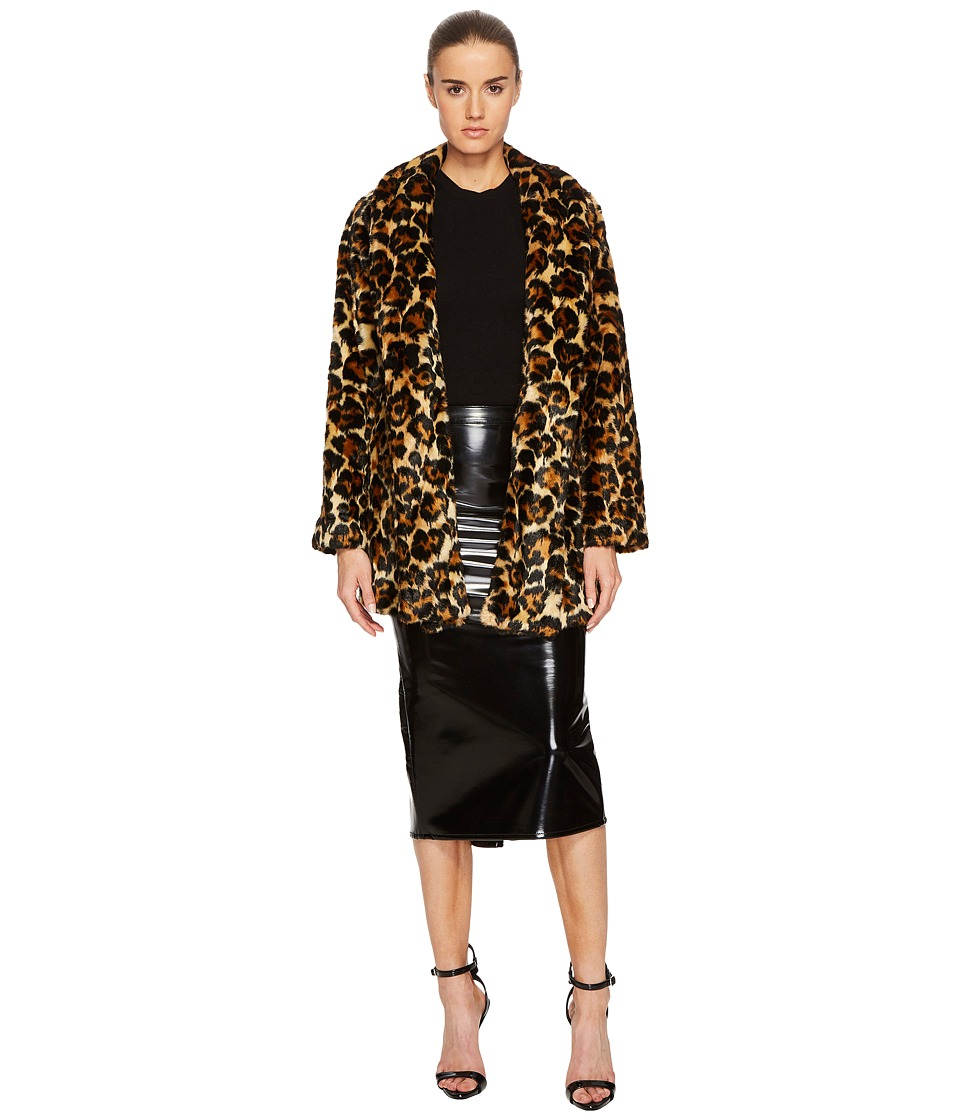 McQ - Long Leopard Fur Coat (Leopard) Womens Coat