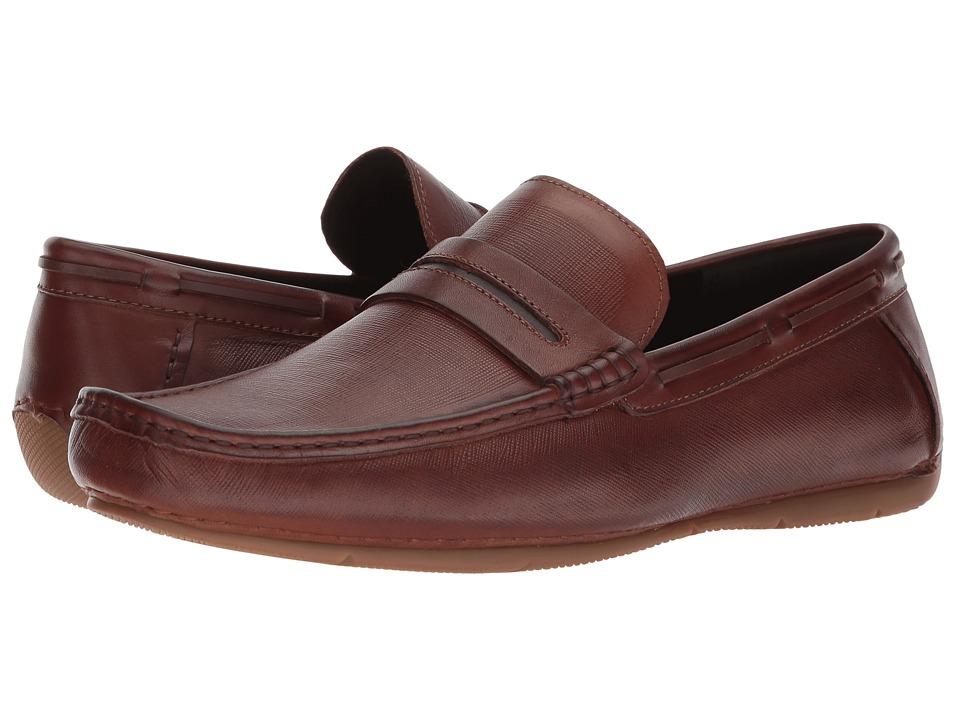 Kenneth Cole Reaction - Smyth Driver (Cognac) Mens Slip on  Shoes