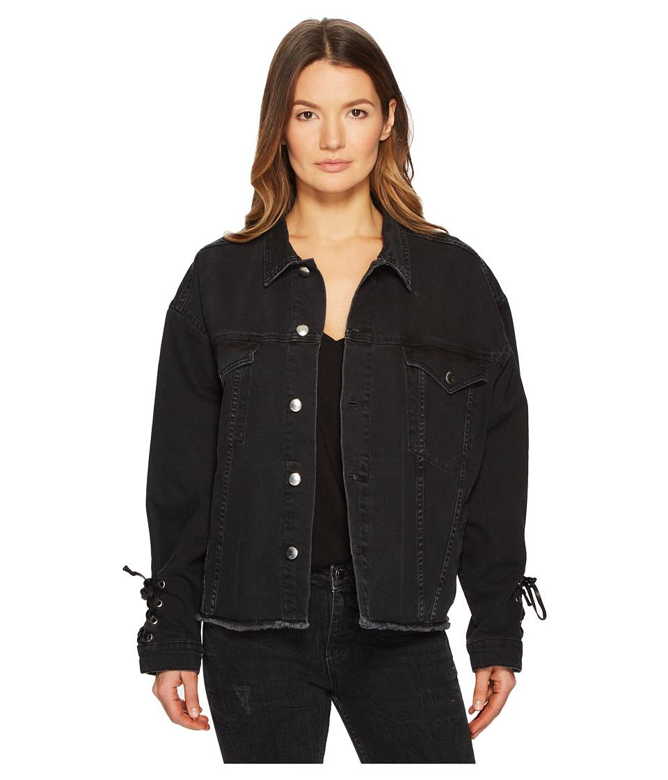 McQ - Oversized Laced Jacket (Black) Womens Coat