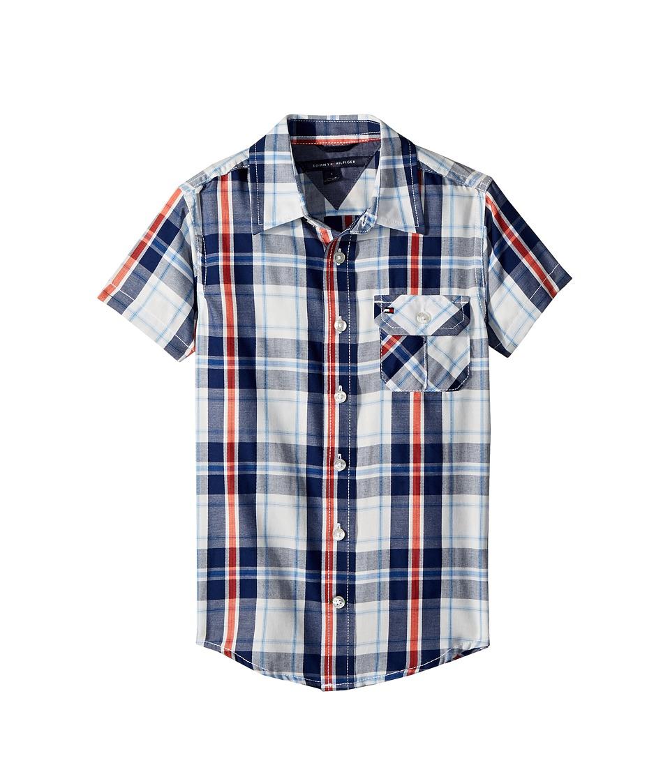 Tommy Hilfiger Kids - Short Sleeve Hong Shirt (Toddler/Little Kids) (Flag Blue) Boys Clothing