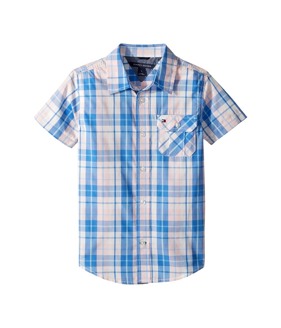 Tommy Hilfiger Kids - Short Sleeve Scout Yarn-Dye Shirt (Toddler/Little Kids) (Crystal Rose) Boys Clothing