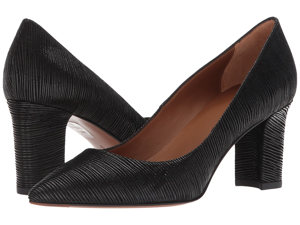 Aquatalia Michaela (Black Texture Metallic Calf) Women's ...
