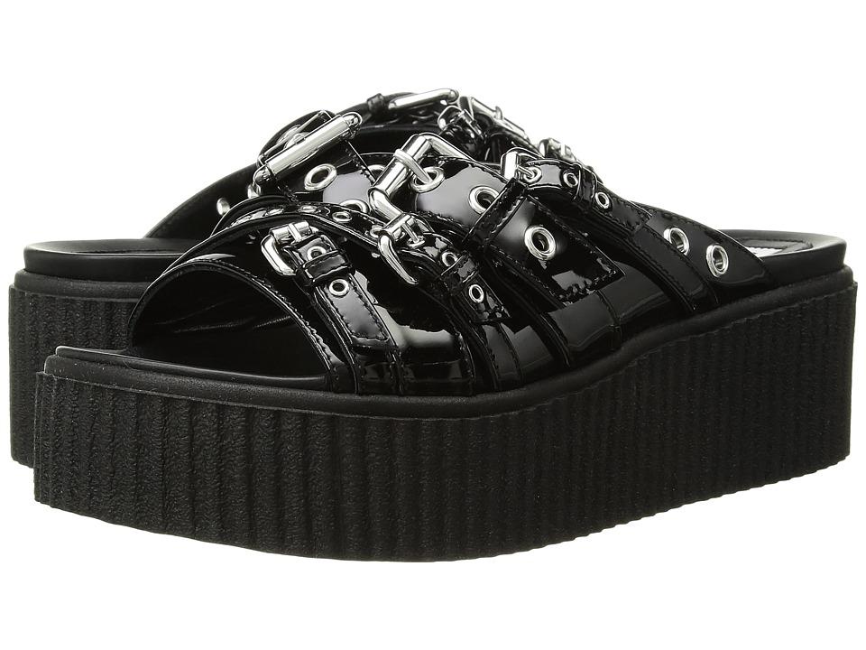 McQ - Dusk Eyelet Slide (Black) Womens Slide Shoes
