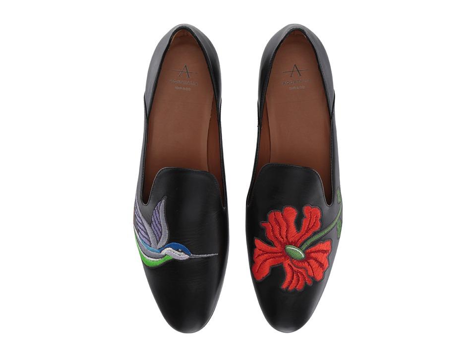 Aquatalia Emmaline (Black Embroidered Calf) Women's Shoes