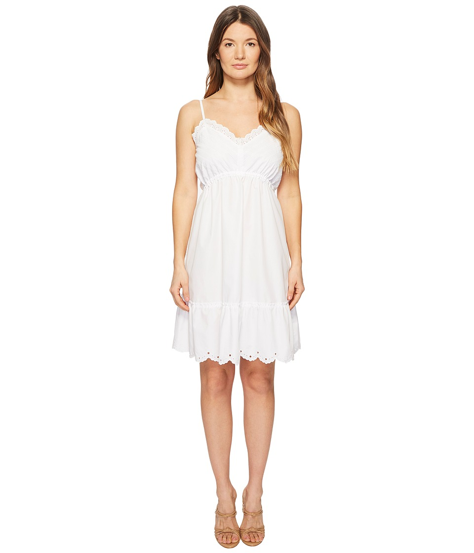 McQ - Broderie Anglaise Mini Dress (Optic White) Womens Dress