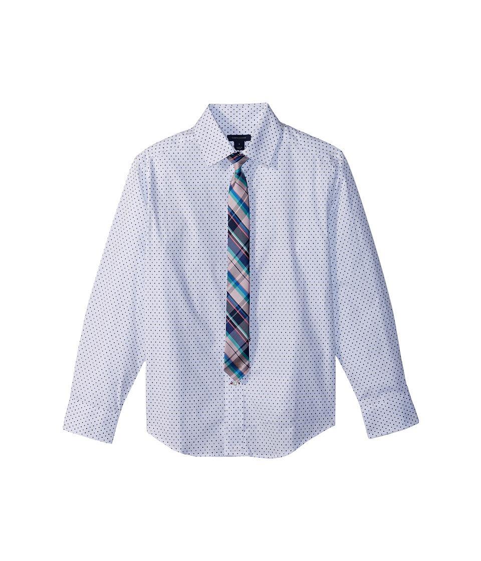 Tommy Hilfiger Kids - Long Sleeve Stretch Dot Print w/ Ti...