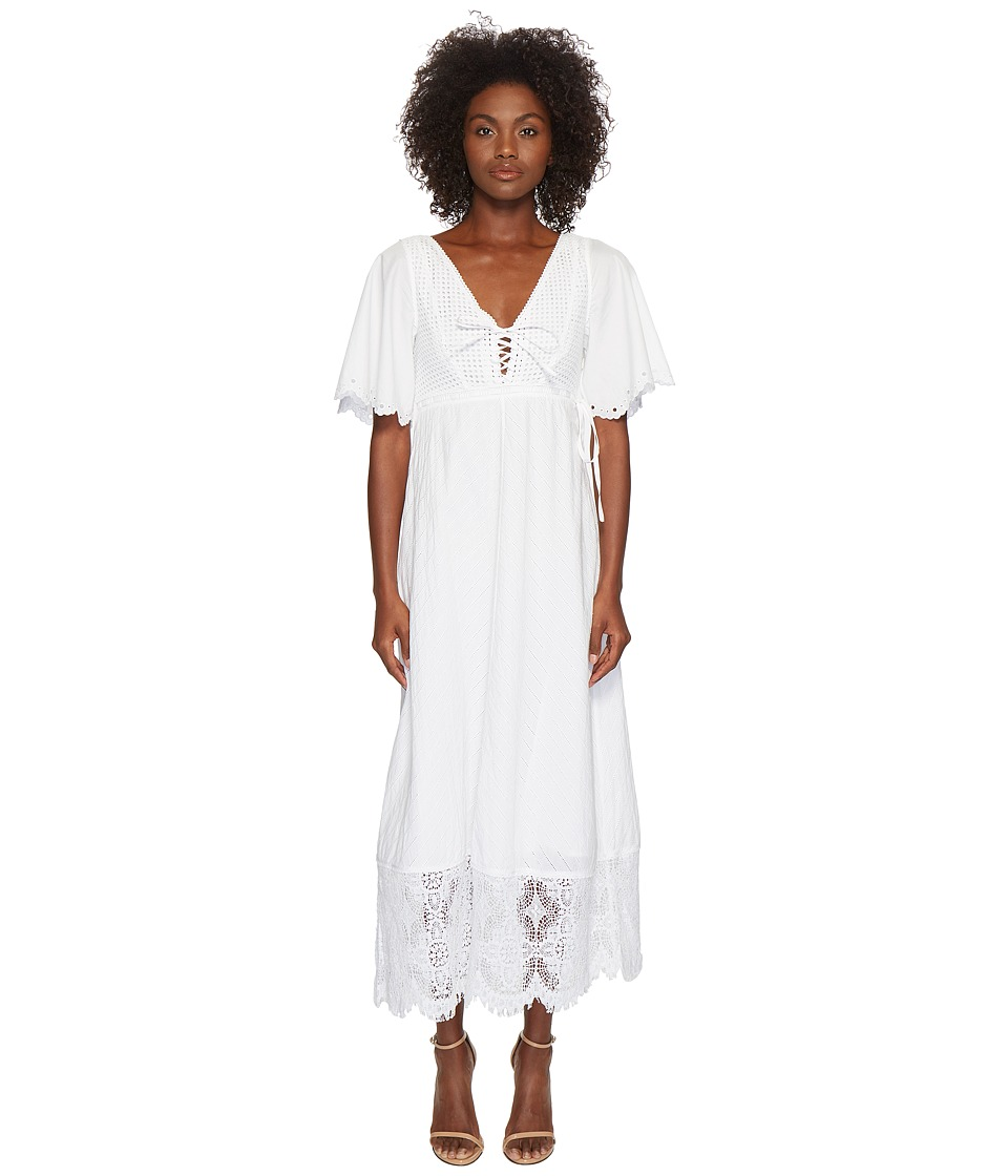 McQ - Broderie Anglaise Long Dress (Optic White) Womens Dress
