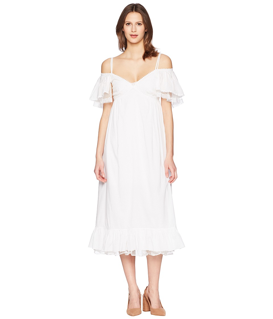 McQ - Pleat Off Shoulder Dress (Off-White) Womens Dress