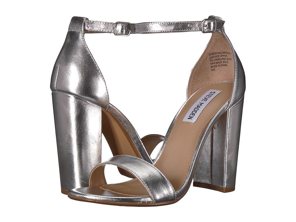 Steve Madden Carrson Heeled Sandal (Silver) High Heels