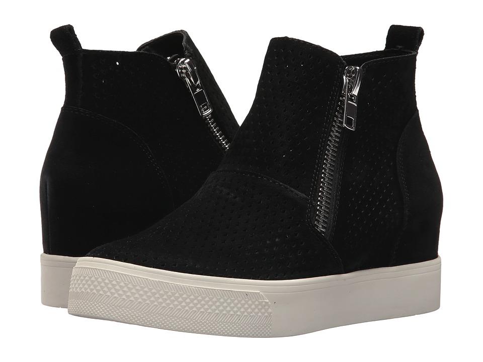 Steve Madden Wedgie-P Sneaker (Black Suede) Women's Shoes