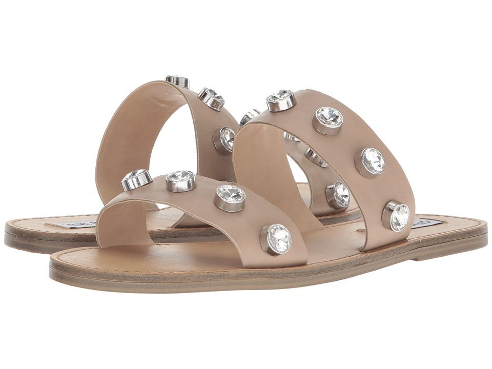 Steve Madden Jessy Slide Flat Sandal (Nude Leather) Women's Shoes