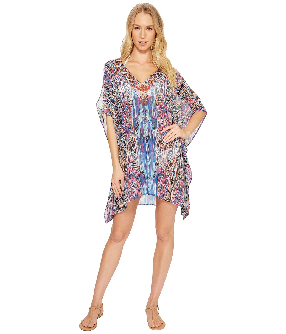 Laundry by Shelli Segal Abstract Feathers Tunic Cover-Up (Cool) Women