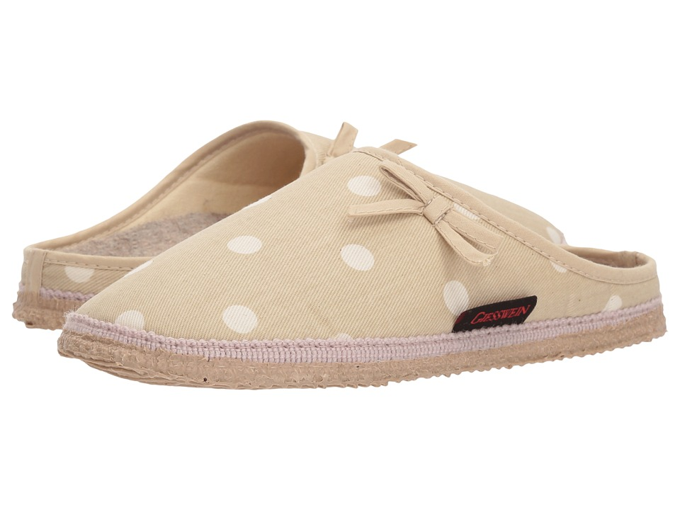 Retro Vintage Flats and Low Heel Shoes Giesswein - Meadow Natural Womens Slippers $92.00 AT vintagedancer.com