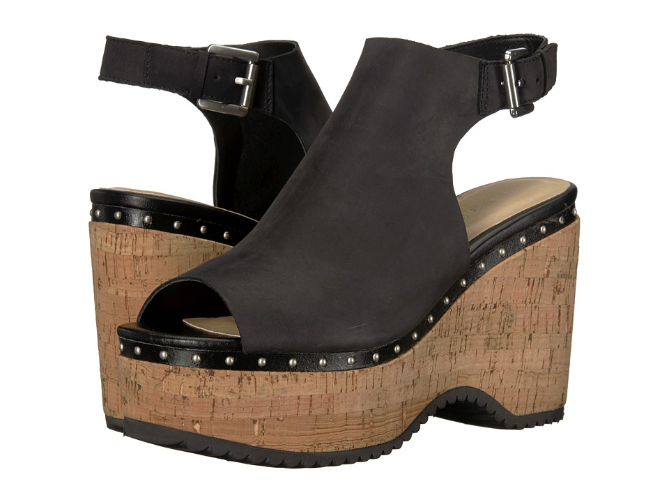 Chinese Laundry - Trinity Sandal (Black Leather) Womens Clog/Mule Shoes