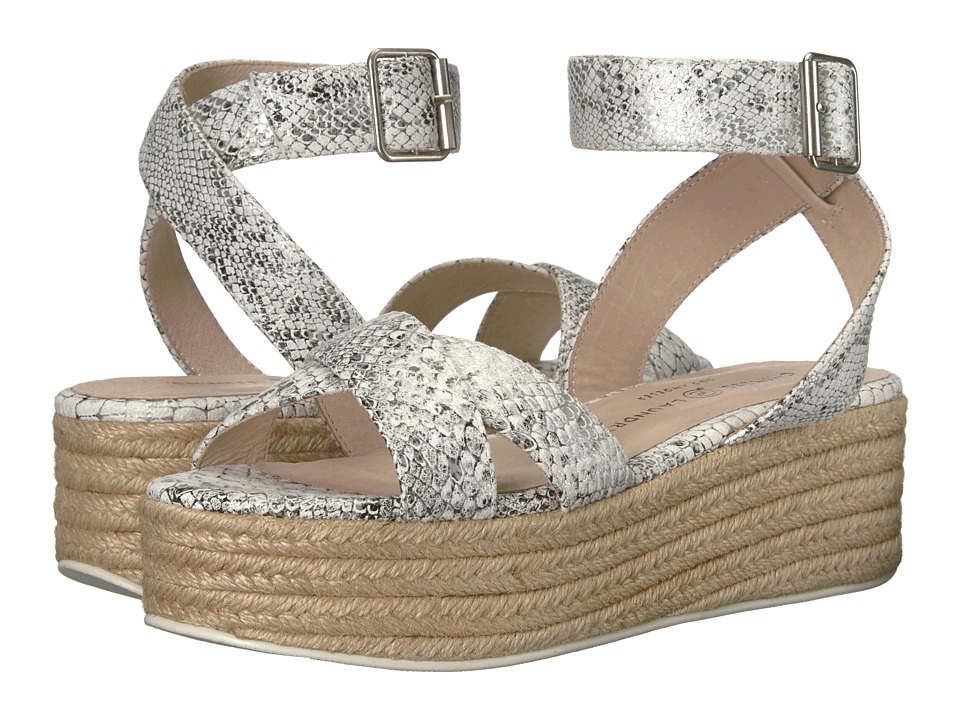 Chinese Laundry - Zala Sandal (White/Silver Snake) Womens Sandals