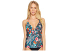 Laundry by Shelli Segal Floral Paisley Ruffle Plunge Tankini