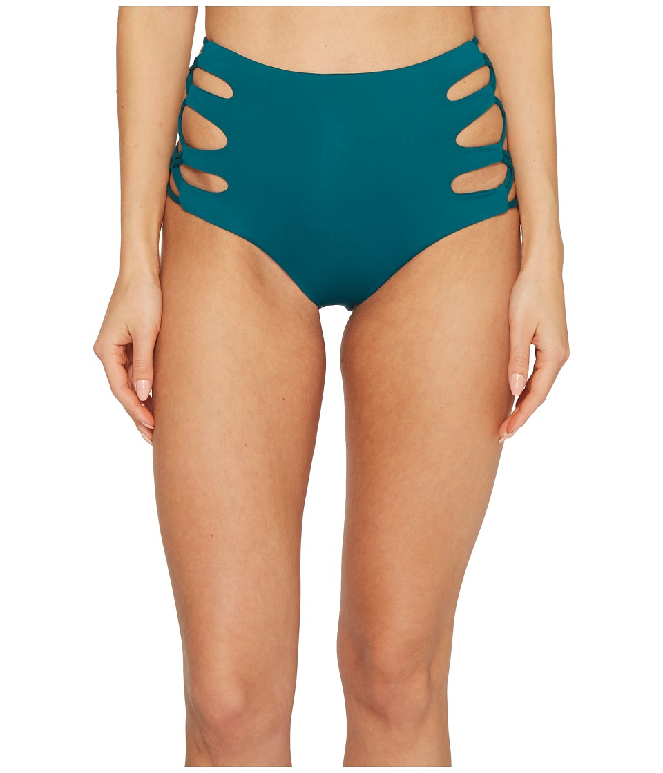 Isabella Rose - Paradise High-Waist Bikini Bottom (Jade) Womens Swimwear