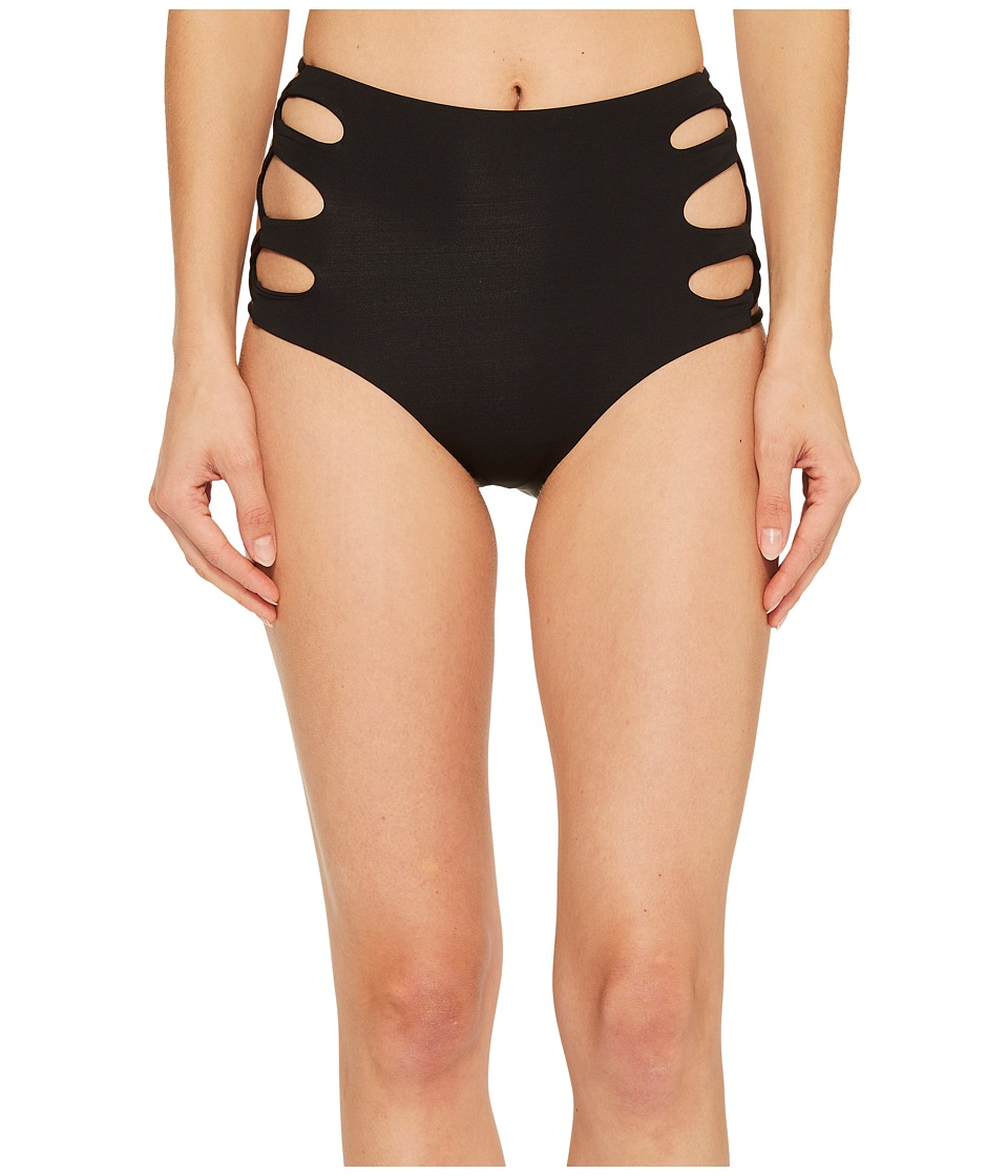 Isabella Rose Paradise High-Waist Bikini Bottom (Black) Women
